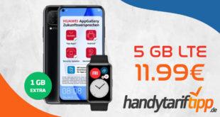 Huawei P40 Lite & Huawei Watch Fit mit 5 GB LTE nur 11,99€ monatlich