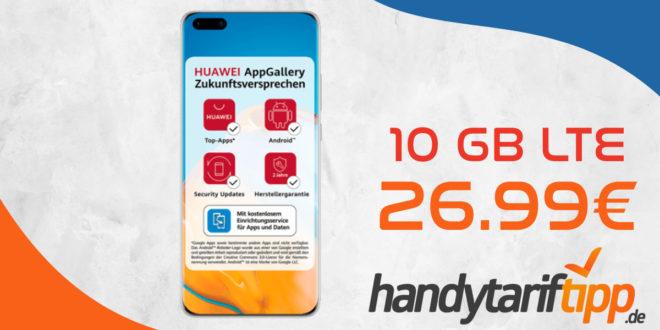 Huawei P40 Pro mit 10 GB LTE nur 26,99€ monatlich