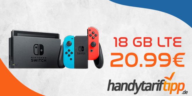 Nintendo Switch Konsole mit 18 GB LTE im Telekom Netz nur 20,99€ monatlich