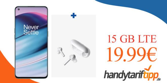 OnePlus Nord CE 5G & Oneplus Buds Z Kopfhörer mit 15 GB LTE nur 19,99€ monatlich