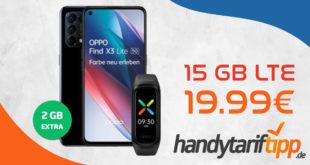 Oppo Find X3 Lite 5G & Oppo Band Sport mit 15 GB LTE nur 19,99€ monatlich - nur 1 Euro Zuzahlung und kein Anschlusspreis