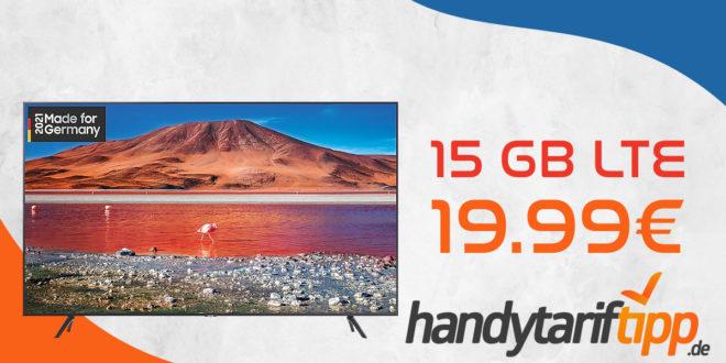 Samsung GU58TU7199U Smart TV (58 Zoll) für 149,95€ Zuzahlung mit otelo Allnet-Flat Classic (15 GB LTE) für 19,99€ monatlich