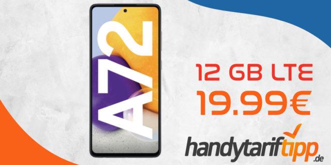 Samsung Galaxy A72 mit 12 GB LTE nur 19,99€ monatlich