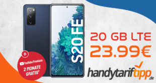Samsung Galaxy S20 FE mit 20 GB LTE nur 23,99€ monatlich