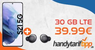 Samsung Galaxy S21 5G & Galaxy Buds Pro mit 30 GB LTE im Vodafone Netz nur 39,99€ monatlich