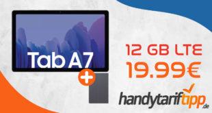 Samsung Galaxy Tab A7 & Samsung Book Cover mit 12 GB LTE nur 19,99€ monatlich
