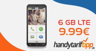 Senioren Smartphone Peaq PSP 400 mit 6 GB LTE nur 9,99€ monatlich