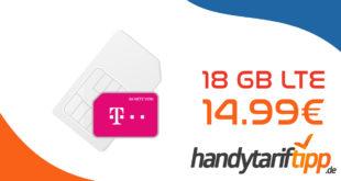 Telekom Green LTE 18GB Allnet Flat zum Aktionspreis von nur 14,99 Euro monatlich