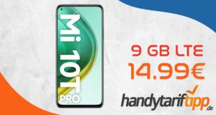 Xiaomi Mi 10T Pro 5G mit 9 GB LTE nur 14,99€ monatlich