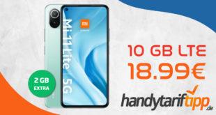 Xiaomi Mi 11 Lite 5G mit 10 GB LTE nur 18,99€ monatlich