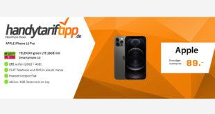 Apple iPhone 12 Pro mit 30 GB LTE im Telekom Netz nur 49,99€ monatlich - nur 89 Euro Zuzahlung