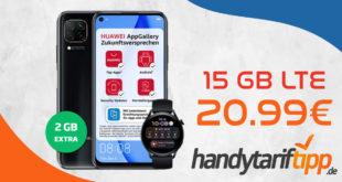 Huawei P40 Lite & Huawei Watch 3 LTE mit 15 GB LTE nur 20,99€ monatlich