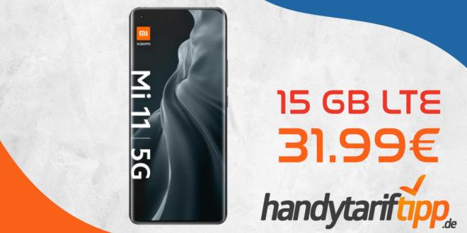 Knaller Deal! Xiaomi Mi 11 5G mit 15 GB LTE nur 31,99€ monatlich - nur 1 Euro Zuzahlung