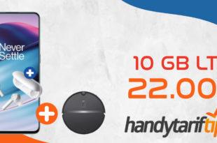 OnePlus Nord CE 5G & Buds Z & Roborock E4 mit 10 GB LTE im Telekom Netz für 22€ monatlich - einmalige Zuzahlung 89 Euro