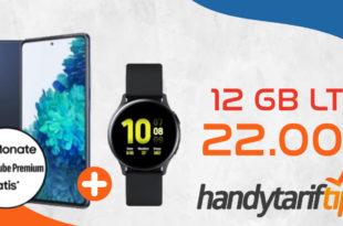 Samsung Galaxy S20 FE (2021) für 99€ Zuzahlung & Samsung Galaxy Watch Active2 mit 12 GB LTE für 22€ monatlich