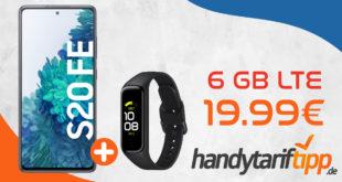 Samsung Galaxy S20 FE & Samsung Galaxy Fit2 mit 6 GB LTE im Telekom Netz nur 19,99€ monatlich - nur 1 Euro Zuzahlung