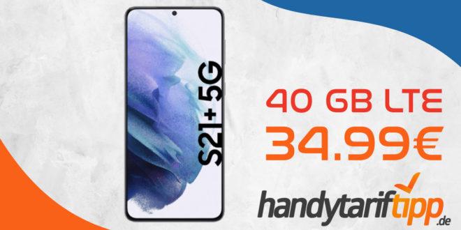 Samsung Galaxy S21+ 5G (S21Plus) mit 40 GB LTE nur 34,99€ monatlich
