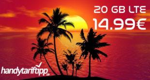 Sommerkracher! 20 GB LTE Vodafone Allnet Flat & 4 Monate Deezer gratis nur 14,99€ monatlich
