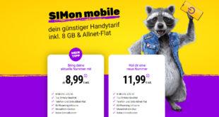 Vodafone Netz- Monatlich kündbar - bei Rufnummernmitnahme gibt es 8 GB LTE für nur 8,99€ monatlich - mit neuer Nummer 11,99€ monatlich