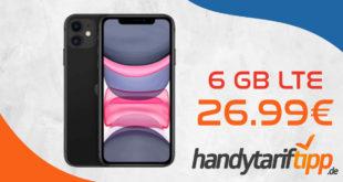 Apple iPhone 11 mit 6 GB LTE im Telekom Netz nur 26,99€ monatlich - nur 49 Euro Zuzahlung