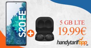Samsung Galaxy S20 FE & Samsung Galaxy Buds2 mit 5 GB LTE nur 19,99€ monatlich - nur 49 Euro Zuzahlung