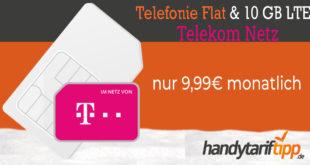 TELEKOM KRACHER - 10 GB LTE & Allnet Telefonie Flat nur 9,99€ monatlich