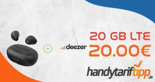 Telekom Netz 15GB LTE für 15 Euro und 20 GB LTE für 20 Euro monatlich - GRATIS Urbanista Lisbon Ohrhörer & 6 Monate Deezer