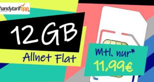 Allnet-Flat 12 GB LTE - ohne Vertragslaufzeit - nur 11,99€ monatlich