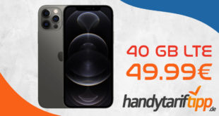 Apple iPhone 12 Pro mit 40 GB LTE im Telekom Netz für 49,99€ monatlich - nur 49 Euro Zuzahlung