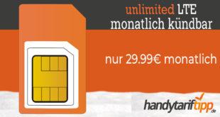 Unbegrenztes LTE mit dem O2 Free Unlimited Max - monatlich kündbar - nur 29,99€ monatlich